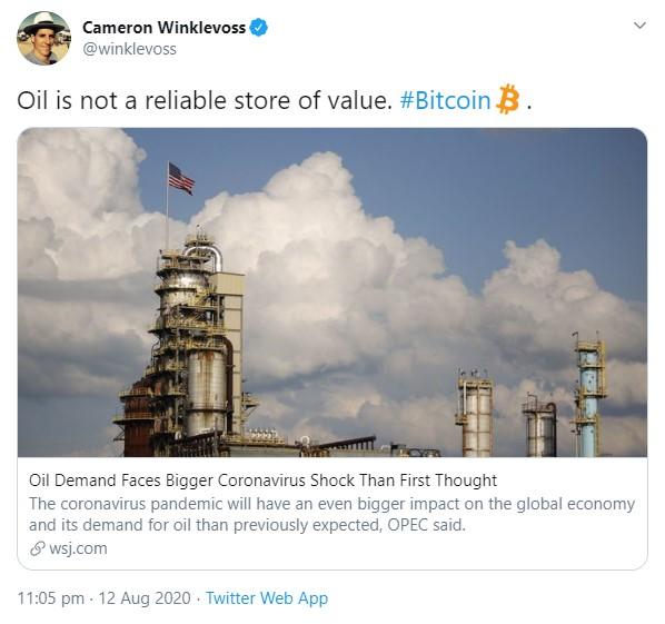 Irán impulsa la inversión petrolera en los ciudadanos, Winklevoss asesora a Bitcoin