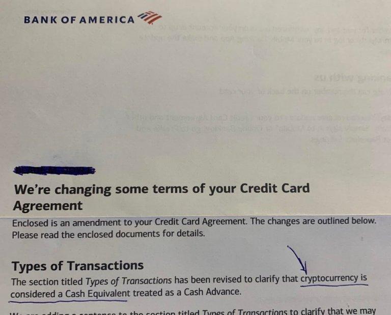 Bank of America considera que las transacciones de Bitcoin y criptomonedas son equivalentes al efectivo