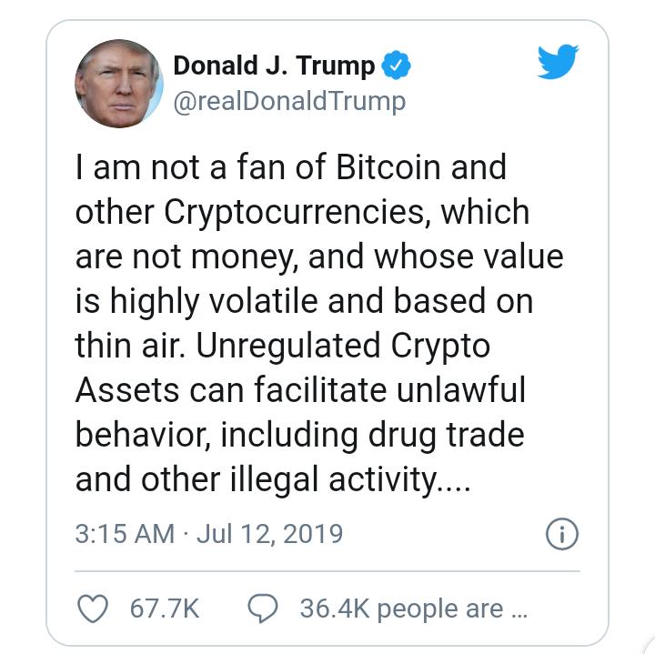 El presidente Trump ordenó tomar medidas drásticas contra Bitcoin, alega que exasesor de seguridad nacional
